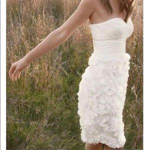 Like NEW! Stunning white strapless cocktail dress